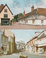 Dedham Lancashire Bovey Tracey Post Office Electricity Restaurant 1970s Postcard