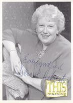 Denise Robertson This Morning Early Hand Signed Cast Card Photo