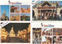 Disneyland Fantasyland Snow White Seven Dwarfes Alpine Mountain 4x Postcard