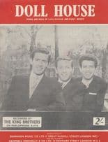 Doll House The King Brothers 1960s Sheet Music
