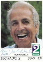 Don Maclean God Bless Radio 2 Hand Signed Cast Card Photo