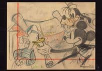 Donald Duck Goofy Boat Builders Building A Ship Walt Disney Postcard