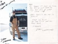 Drew Sherwood Ice Road Truckers Large Hand Signed Photo & Letter