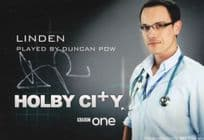 Duncan Pow as Linden BBC Holby City Hand Signed Cast Card Photo