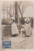 Dutch Protestant Water Carrier Lady Traditional Costume Fashion Holland Postcard