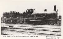 Early GWR Locomotive Train 2-4-0 No 490 Real Photo Postcard