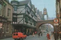 Eastgate Tower Clock Chester Royal Mail Van 1970s Postcard