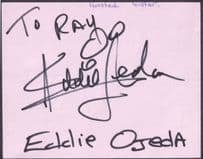 Eddie Ojeda Twisted Sister Heavy Metal Group Hand Signed Autograph