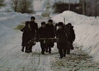 Elmira Schoolchildren Ontario Canada in Winter Returning from School Postcard