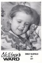 Emily Oldfied as Lucy Child Star Childrens Ward TV Show Vintage Signed Cast Card
