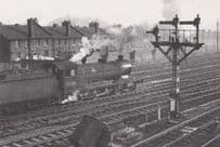 Engine 63705 Train at Staveley Central Station in March 1963 Railway Postcard