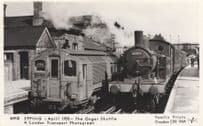 Epping Station Ongar Shuttle 1953 LNER F5 67193 Train Postcard