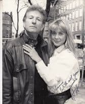 Erika Hoffman Star Of Only Fools & Horses BBC TV Launch Hand Signed Press Photo