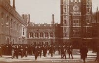 Eton College House Masters Checking Absense Student Antique Real Photo Postcard