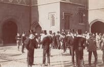 Eton College Top Hat Parade Outside Party Speech Antique Windsor RPC Postcard