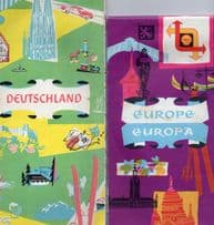 Europe Deutschland 2x Germany Shell Petrol Road Map Tourist 2x  Book