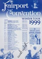Fairport Convention Anna Ryder Live In Concert 1999 Hand Signed Concert Flyer