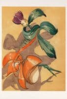 Fantasia The Nutcracker Suite Fairies Dancing Painting Postcard