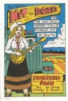 Female Banjo Player Solihull Motorcycle Show Museum West Midlands Postcard