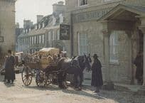 Filming at White Hart Pub Middlemarch BBC TV Show Stamford Lincolnshire Postcard