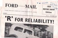 Ford Mail Dagenham Motors Car Newspaper 1954 Motor Show