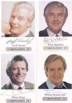 FOUR Coronation Street Facimile & Hand Signed Epic Male Actor Cast Card s