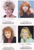 FOUR Coronation Street Facimile Jack Rita Signed Greatest Ever Cast Card s