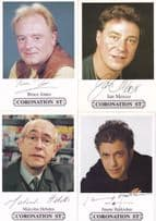 FOUR Coronation Street Facimile Signed Famous Male Actor Cast Card s