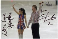 Frankie Poultney David Seaman Wife Dancing On Ice Chris Fountain Signed Photo
