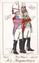 French Dragoon Trumpeter Soldier Napoleonic War Uniform PB Rare Postcard
