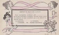 French Tongue Twister Long Antique Swearing Vulgar Comic Humour Postcard