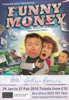 Funny Money Eithne Browne of Brookside Liverpool Hand Signed Theatre Flyer