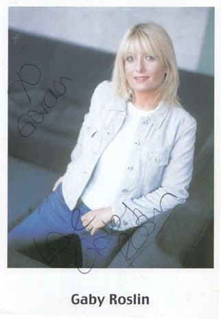 Gaby Roslin of The Big Breakfast Football TV Presenter Hand Signed Photo