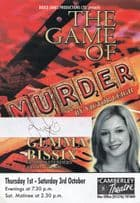Gemma Bissex of Game Of Thrones Murder Victor Leigh Hand Signed Theatre Flyer