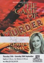 Gemma Bissix Hollyoaks The Game Of Murder Peterborough Hand Signed Theatre Flyer