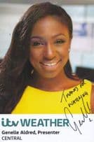 Genelle Aldred TV Central Weather Weathergirl Hand Signed Cast Card Photo
