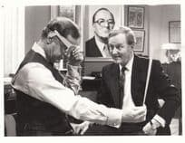 Geoffrey Palmer Robert Hardy Hot Metal Fleet Street Drama ITV Press Photo Letter