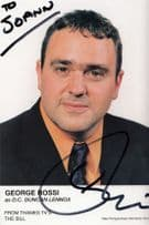 George Rossi as DC Duncan Lennox ITV The Bill DOUBLE Hand Signed Cast Card Photo
