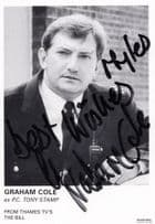 Graham Cole as PC Tony Stamp ITV The Bill Hand Signed Cast Card Photo