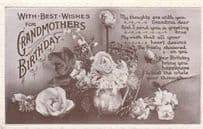 Grandmothers Grandmas Antique Happy Birthday Postcard