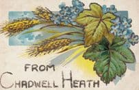 Greetings From Chadwell Heath Nr Romford Essex REAL GLITTER ANTIQUE Postcard