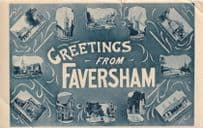 Greetings From Faversham Kent Hospital Old Postcard