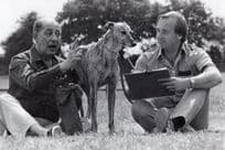 Greyhound Racing Raffle RSPCA BBC Shenley Herts TV Alfred Marks Press Photo