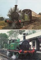 Guard Leaning Out Of Tenterden Bank Train 1973 Kent Sussex Railway 2x Postcard s