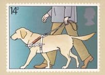 Guide Dog For The Blind Royal Mail 1981 Limited Edition Postcard