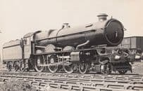 GWR Great Western King George III 3rd Number 6004 Old Train Real Photo Postcard