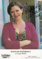 Hannah Waterman Eastenders Hand Signed Undedicated Cast Card Photo