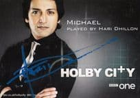 Hari Dhillon as Michael Holby City TV Show Hand Signed Cast Card Photo