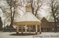 Harrold Bedfordshire Walls Ice Cream The Butter Market at Christmas Postcard