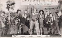 Harry Lester & His Hayseeds in Your Country Cousins Hand Signed Western Photo